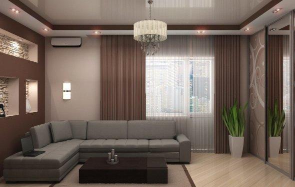 Дизайн натяжных потолков в