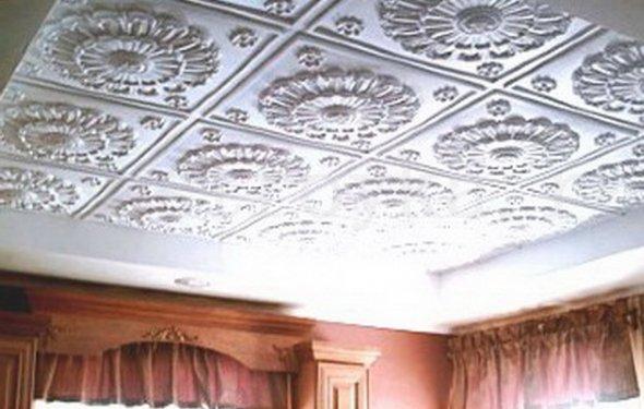 клеевой потолок фото, клеевой