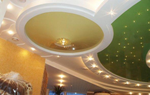 Многоуровневые потолки и их
