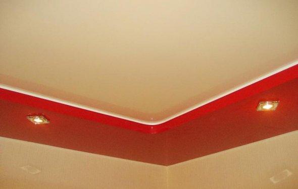 Потолок натяжной два уровня