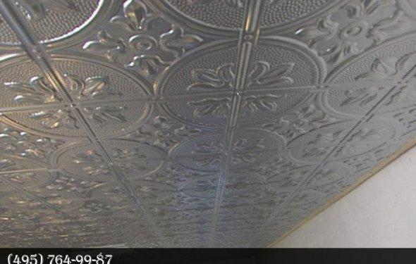 Установка плитки на потолок